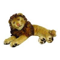 Vintage Steiff Mohair Lying Lion