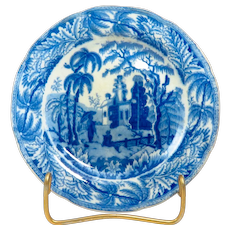 Early 19th Century Davenport 'Chinoiserie Ruins' Plate