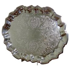 Vintage Rogers Silver Plated Footed Serving Tray