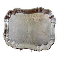 Vintage Wallace Silver Plated Serving Tray
