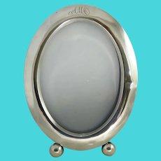 Vintage Large Oval Sterling Silver Photo Frame