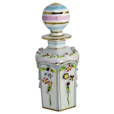 Vintage Irice German Porcelain Perfume Scent Bottle
