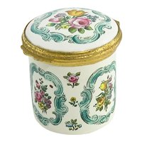 Vintage Halcyon Days Battersea Floral Enamel Box