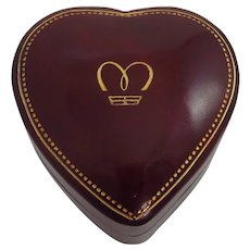 Vintage Leather Heart Shaped Marchal Jewelers Box