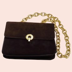 Vintage Morle Brown Suede Handbag