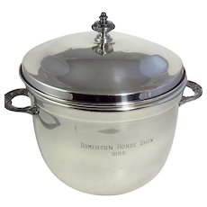 Vintage Silverplate Horse Show Trophy Ice Bucket