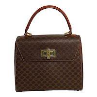 Authentic Vintage Celine Brown Macadam Handbag