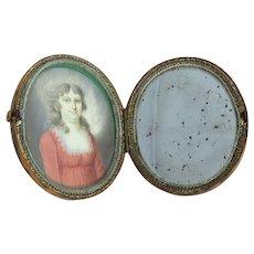 Late Georgian Miniature Portrait in Tortoiseshell Case