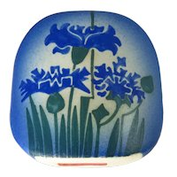 Vintage Estonian Handmade Pottery ARS Art Factory Floral Vase