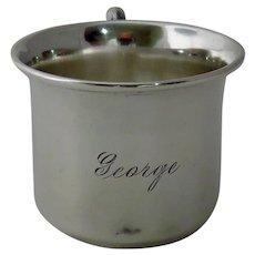 """Vintage Sterling Silver Baby Cup """"George"""""""