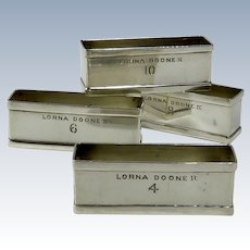 "Sterling Silver Napkin Rings From The Yacht ""Lorna Doone II"""