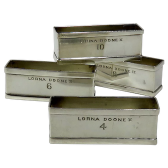 """Sterling Silver Napkin Rings From The Yacht """"Lorna Doone II"""""""