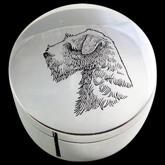 Sterling Silver Enamel Dog Stamp Dispenser