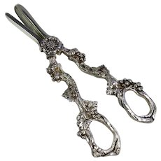 Vintage Silver Plated Grape Shears
