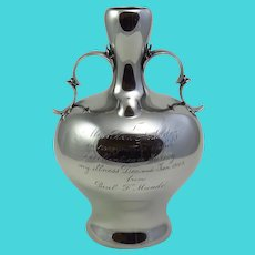 Whiting Sterling Silver Presentation Vase From Dr. Paul Munde'