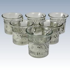 Set of Six Art Deco Sterling Silver Punch Cups