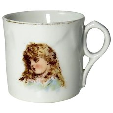 Late 19th Century Victorian Porcelain Baby Cup