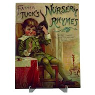 "Victorian Children's ""Father Tuck's Nursery Rhymes"" Book"