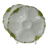 Pair of Limoges Oyster Plates