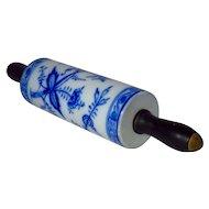 Meissen-Style Blue Onion Rolling Pin