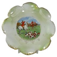 Vintage Scalloped Edge Fox Hunting Plate