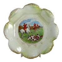 Large Vintage Fox Hunting Plate