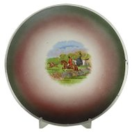 Vintage Hanging Fox Hunting Plate