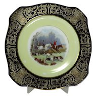 Vintage German Fox Hunting Plate