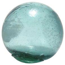 Small Japanese Green Glass Fishnet Float