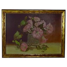 "Late 19th Century ""Morning Glories"" Oil Painting"