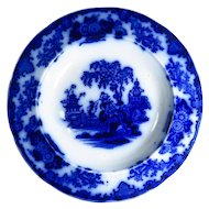 Scinde Pattern Flow Blue Rimmed Soup Bowl