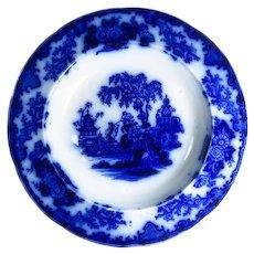 Scinde Pattern Flow Blue Rimmed Soup Bowl