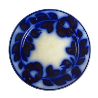 Victorian Floral Pattern Flow Blue Plate