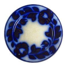 Victorian Floral Pattern Flow Blue Plate