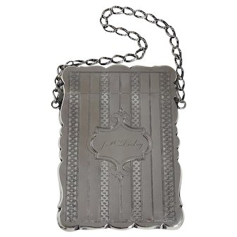 Victorian Sterling Silver Card Case