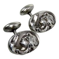 Art Nouveau Sterling Silver Cufflinks