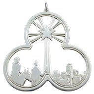 "1974 Lunt Sterling Silver ""Journey By Starlight"" Christmas Medallion"