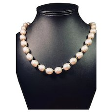 Miriam Haskell Vintage Baroque Pearl Necklace and Earrings