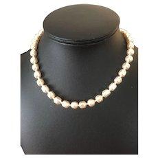 Miriam Haskell Baroque Pearl Necklace