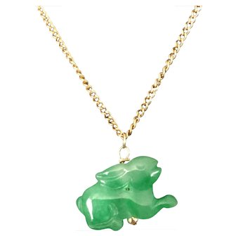 Green Jade/Jadeite Rabbit Necklace