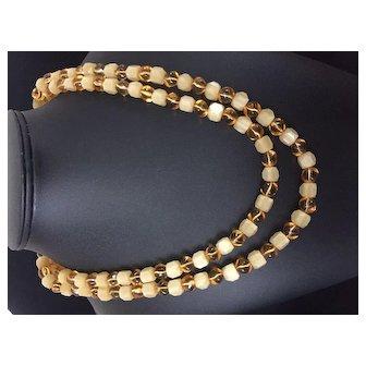 Vintage Trifari 2-Strand Necklace