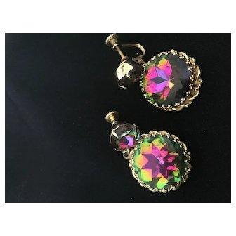 Fuschia Glass Earrings