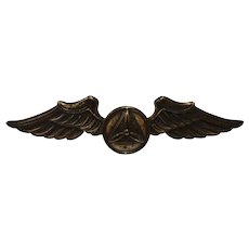WWII Civil Air Patrol Sterling Wings by Gemsco CAP Pilot Military Collectible