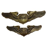 Vintage Set of Early Vietnam Navigator Wings by N S Meyer New York US Military Collectible
