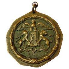 Rare Ambassador Hotel Bronze Medallion Fob Historical Los Angeles California