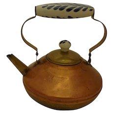Vintage Bredemeijer Copper & Brass Teapot from Holland Delft