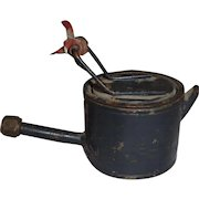 Rare WWI Trench Art Miniature Teapot Military Theater Made English