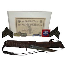 Rare WWII Grouping from the 82nd Airborne Paratrooper Named Military Collectible