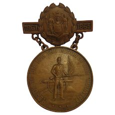 Civil War Veteran Medal State of New Jersey Named and Numbered