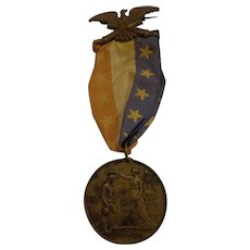 Rare Named 68th Ohio Infantry Civil War Medal w/ Original Ribbon Tiffany & Co. Military